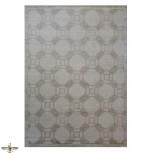 Gray Wool and Silk Area Rug
