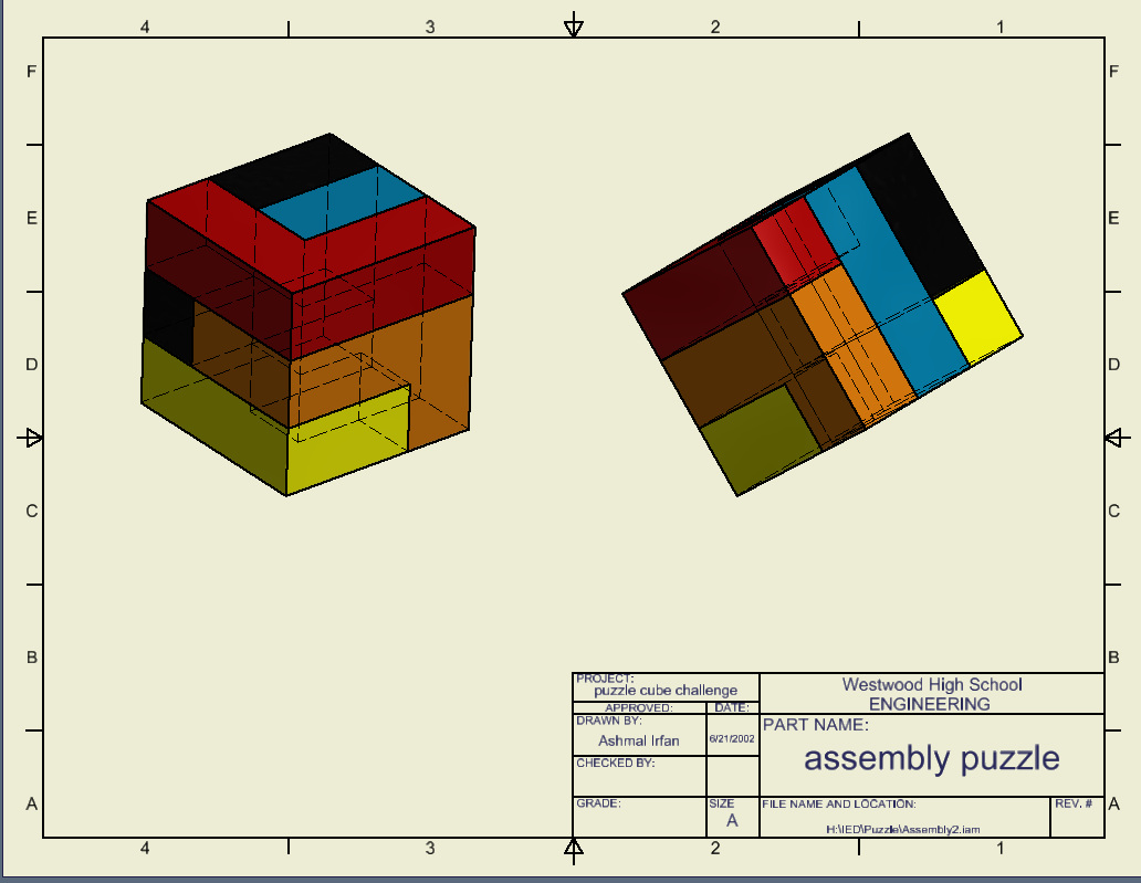 Puzzle Design Challenge Cad Drawings