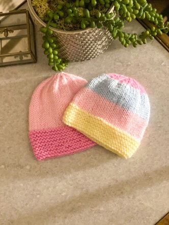Battenberg Baby Knit Hat Pattern