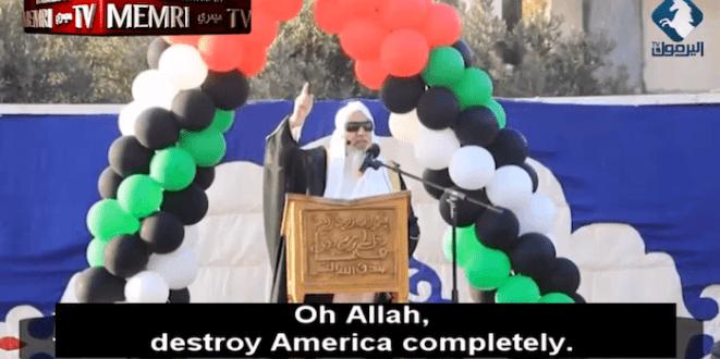 نفرین های واعظ سنی برای نابودی آمریکا،روسیه و اسراییل