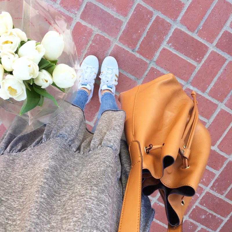 casual outfit with a peplum top