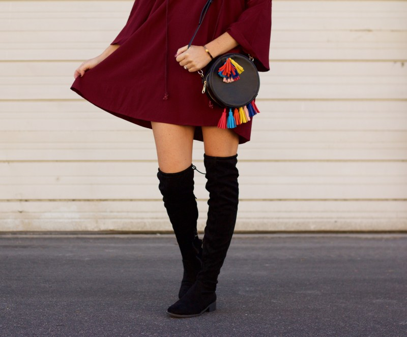fall dress and boots