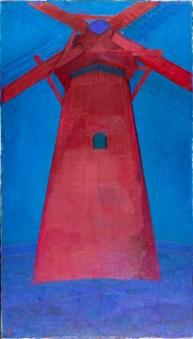Đ RED MIL, 1911, ŷl on canvs, 150 sm x 86 sm