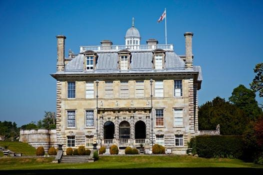The east front of the house at Kingston Lacy, Dorset.
