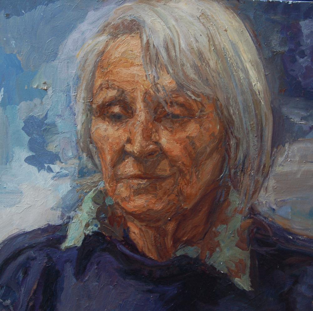 Stephanie Fierz - The Headmistress. Oil on canvas.