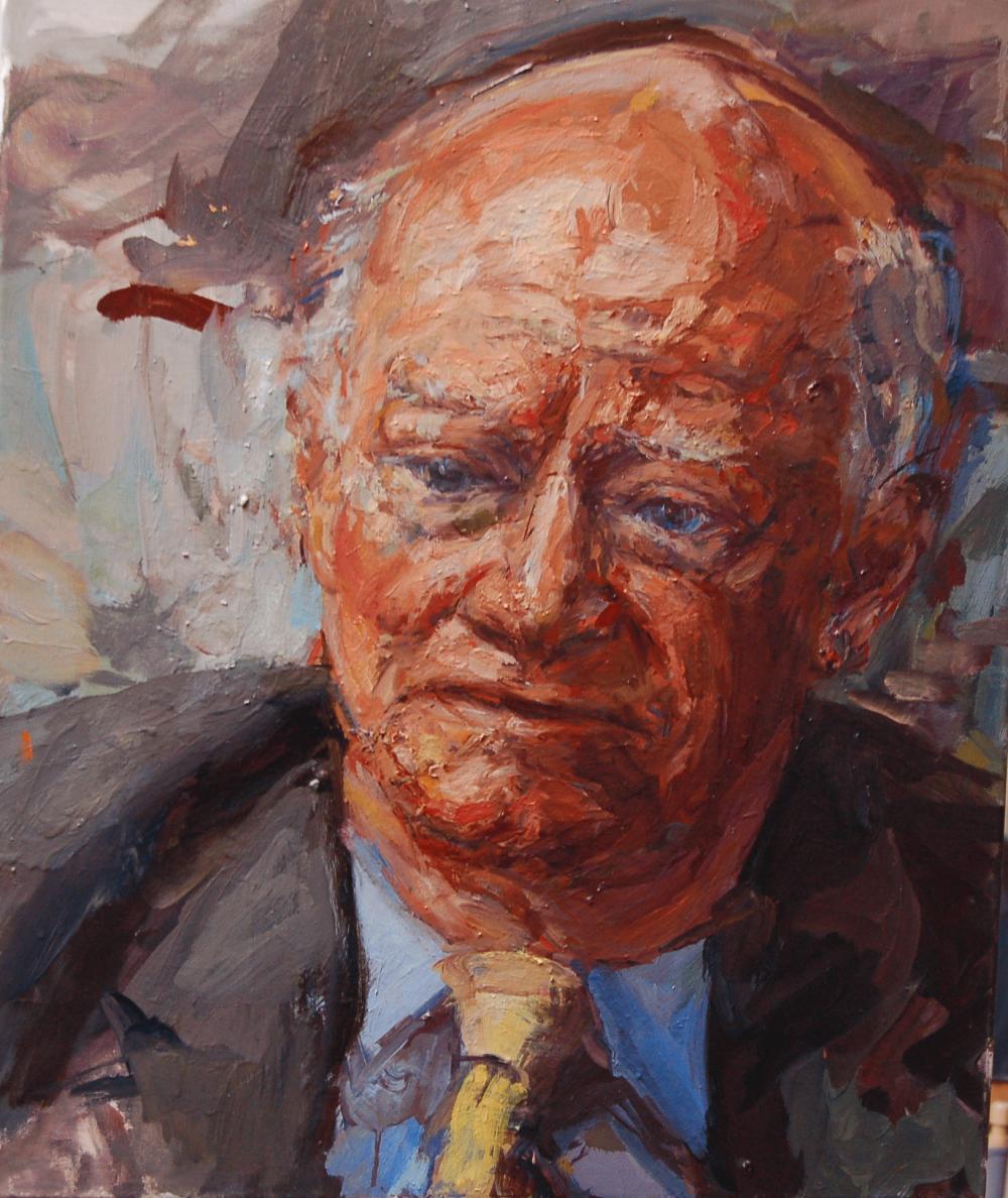 Duncan Robinson - The Art Historian. Oil on canvas.