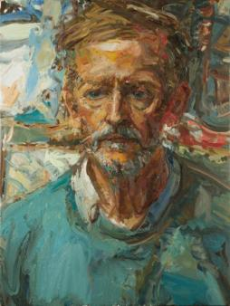Dom Antony Sutch - The Priest. Oil on canvas.