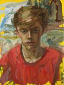 Nicholas Leigh - The Art Student. Oil on canvas.