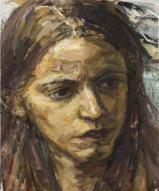 Pearl Chanda - The Artist. Oil on canvas.