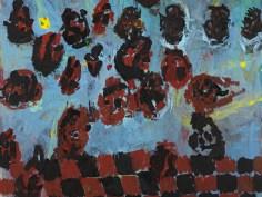 FÔCDANS MEḶNCÔLIA (dītêl) │ 1989 │ Ŷl on canvs