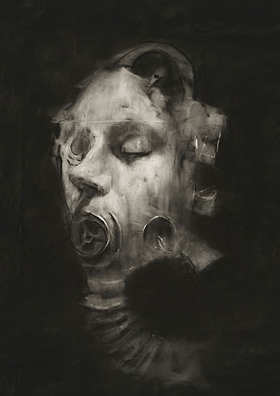 Gas Mask (SJ54), Sophie Jodoin, 2008, from the Series Helmets and Gasmasks, 2007-9