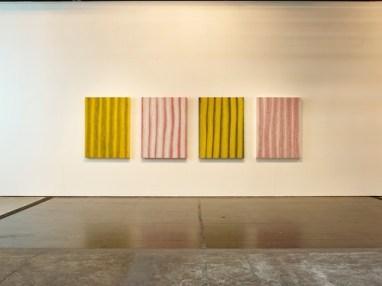 "Installation view of ""Yayoi Kusama Pumpkins"" at Victoria Miro"
