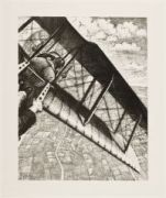 NEVINSON, Christopher Richard Wynne. Banking at 4,000 feet (1917)