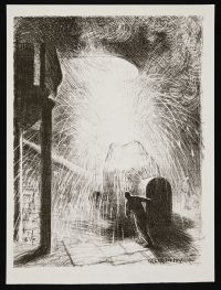 CLAUSEN, George. The Furnace (1917)