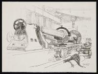 CLAUSEN, George. Turning a Big Gun (1917)