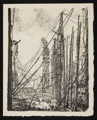 BONE, David Muirhead. A Ship-Yard (1917)