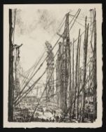 BONE, David Muirhead. A Ship-Yard (1917)