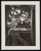 NEVINSON, Christopher Richard Wynne. Acetylene Welder (1917)