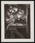 NEVINSON, Christopher Richard Wynne. Acetylene Welder (1917)