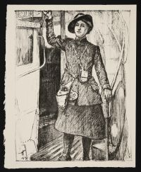HARTRICK, Archibald Standish. In the Towns: A bus conductress (1917)