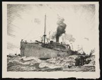 PEARS, Charles. Transporting Troops (1917)