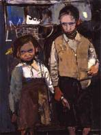 Brother and Sister by Joan Eardley (1955)