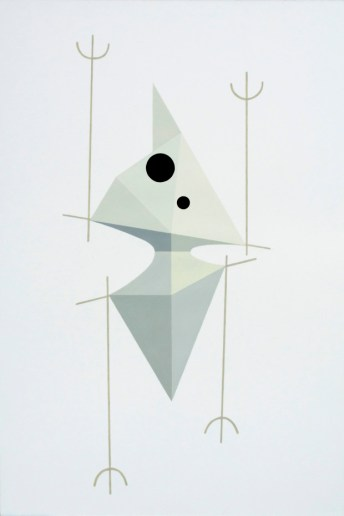 """Fahd Burki. """"Ghost"""", 2012, acrylics and pencil on paper 52 x 38 cm"""
