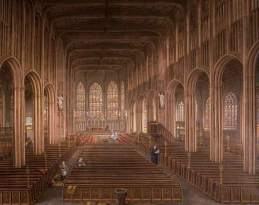 """""""Interior of St Michael's Church, Coventry"""" by David Gee. Date painted – 1862. Oil on canvas. 112 x 125.5 cm. Herbert Art Gallery & Museum"""