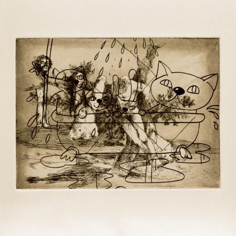 Gigantic Fun, 2000. Etching from a portfolio of 83, 37 x 42.3 cm. Photo: Stephen White
