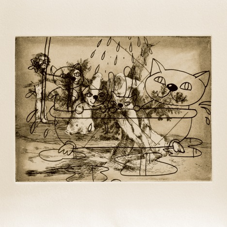 Gigantic Fun, 2000. Etching from a portfolio of 83, 37 x 42.3 cm. Photo: Stephen White