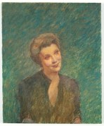 "Michael Fullerton. ""Intelligence (Marjorie Stewart)"", Oil on linen, 60 x 46 cm, 2005."
