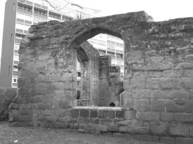 Ruins of Chapel of St James and St Christopher (late 14th Century), Upper Spon Street, Spon End. Grade II listed │ 2014