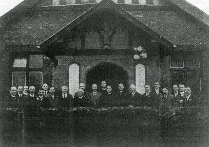 "St Chad's Anglican Church, Stratford Road, Upper Stoke. No longer exists. Photo undated │ From Coventry Society website, ""Memorials at Coventry churches"""