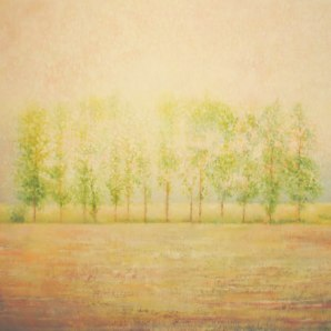 THE SUN CLIMBS THE TREES, 2011, oil