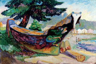 Indian War Canoe (Alert Bay), 1912. Photograph: Montreal Museum of Fine Arts