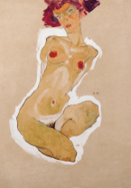 Squatting Female Nude, 1910. Photograph: The Leopold Museum, Vienna