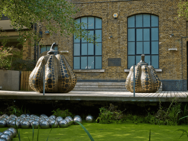 Installation View, Yayoi Kusama, Pumpkins, Gallery I, Victoria Miro, 16 Wharf Road, London N1 7RW, 2014