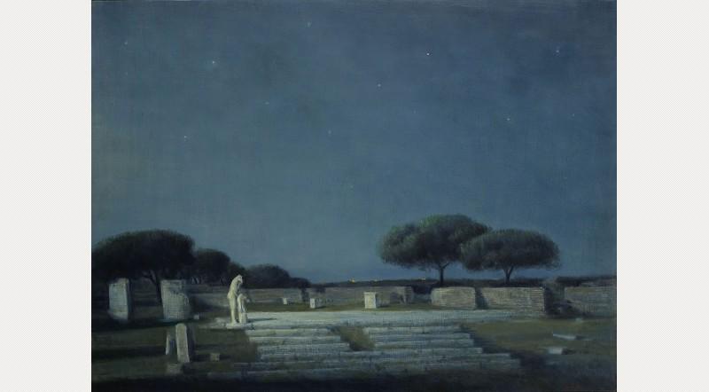 Ettore De Conciliis, Temple of Hercules, Evening, 2012. Courtesy Estorick Collection of Modern Italian Art