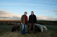 Debbie and Frank Harvey, 'Lonelybield', Kitleyknowe, Scottish Borders 2013. Photo: Alicia Bruce (http://www.aliciabruce.co.uk/projects/fleece-to-fibre/)