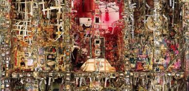 Shinro Ohtake, 'Retina (New Tong of Tangier I)' (detail), 1992 – 93. 216 x 212 x 82 cm. Courtesy of the artist and Take Ninagawa, Tokyo