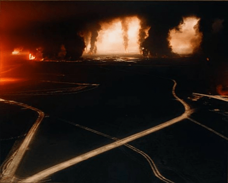 Sophie Ristelhueber: Gulf War Oil Fields in Fait, 1992. National Gallery of Canada. © Courtesy the artist and gallery Jérôme Poggi / Paris