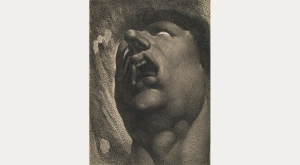 William Blake: Head of a Damned Soul (after Henry Fuseli), c. 1789–90. © Hunterian Art Gallery, University of Glasgow