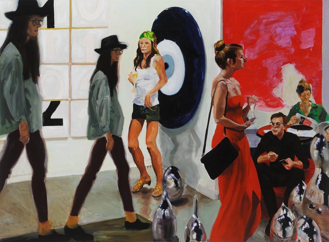 Art Fair: Booth #1 Play/Care, 2013 Oil on linen 208.3 x 284.5 cm, 82 x 112 in