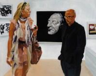 Art Fair: Booth #3 Deathmask, 2014 Oil on linen 137.3 x 172.8cm, 54 1/8 x 68 in
