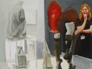 Art Fair: Booth #40 Shopgirl (study), 2014 Oil on linen 76.2 x 101.6 cm, 30 x 40 in