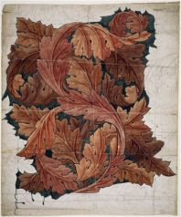 Wallpaper Design - Acanthus. By William Morris. 1879 – 1881. Accession number: 1941P413. Watercolour over pencil on paper. Width: 688 mm. Height: 812 mm