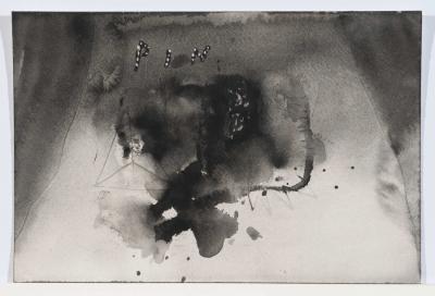 Pin, N.D. Watercolour, 17 9/16 x 14 9/16 inches