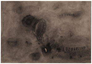 Numbers, 2008-9. Watercolour, 18 3/4 x 15 1/2 inches