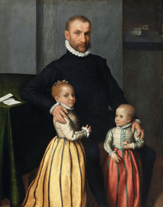 Portrait of a Gentleman and His Two Daughters, c1572-75. Photograph: © National Gallery of Ireland