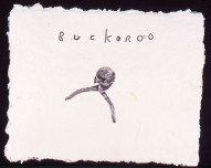 """Untitled (#20, """"Buckaroo""""), 2009. Monoprint on hand-made paper, 27 x 32 inches"""